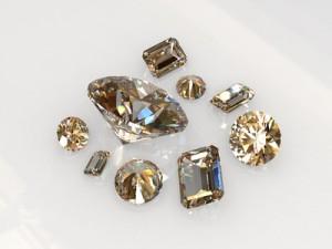 Champagne diamond stones