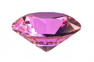 Pink round sapphire gemstone