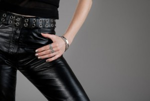 Woman wearing a silver bracelet
