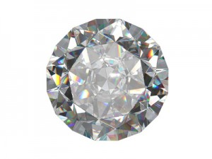 Round diamond viewed from the top