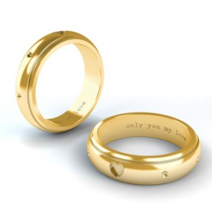 engraved gold wedding rings - Wedding Ring Inscriptions