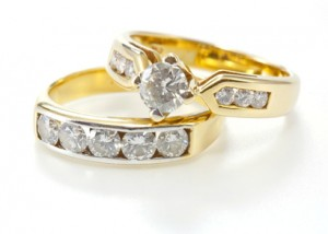 Channel-setting diamond rings