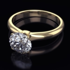 Diamond golden ring