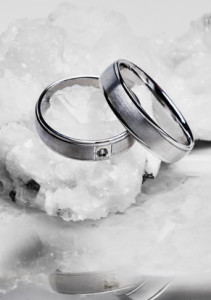 Silver And Black Wedding Rings