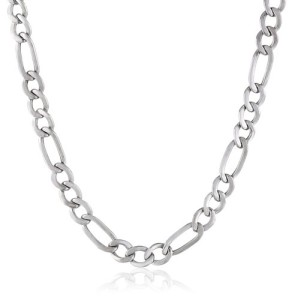 white-gold-chain-figaro-link