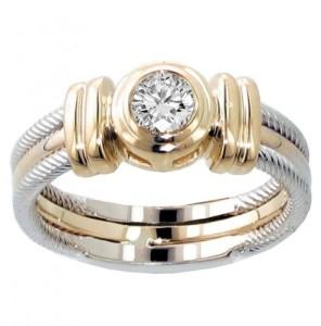 bezel set diamond ring