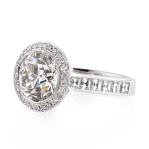 Antique-European-Round-Cut-Diamond-Engagement-Ring