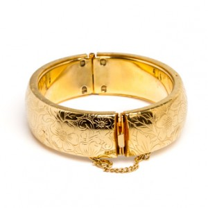 Gold plated jewelry costs less than a solid gold piece.