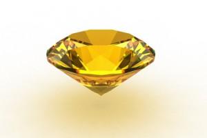 Yellow topaz gemstone
