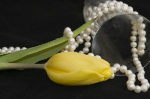 It is normal for pearls to turn yellow with time.