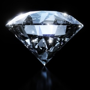 The girdle is the demarcation line between the top and bottom parts of a diamond.