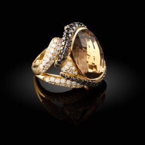 Gold ring with a gemstone