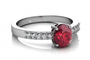 Red gemstone ring