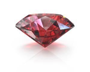 Round cut ruby