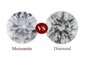 how to tell the difference between moissanite and diamond jewelry