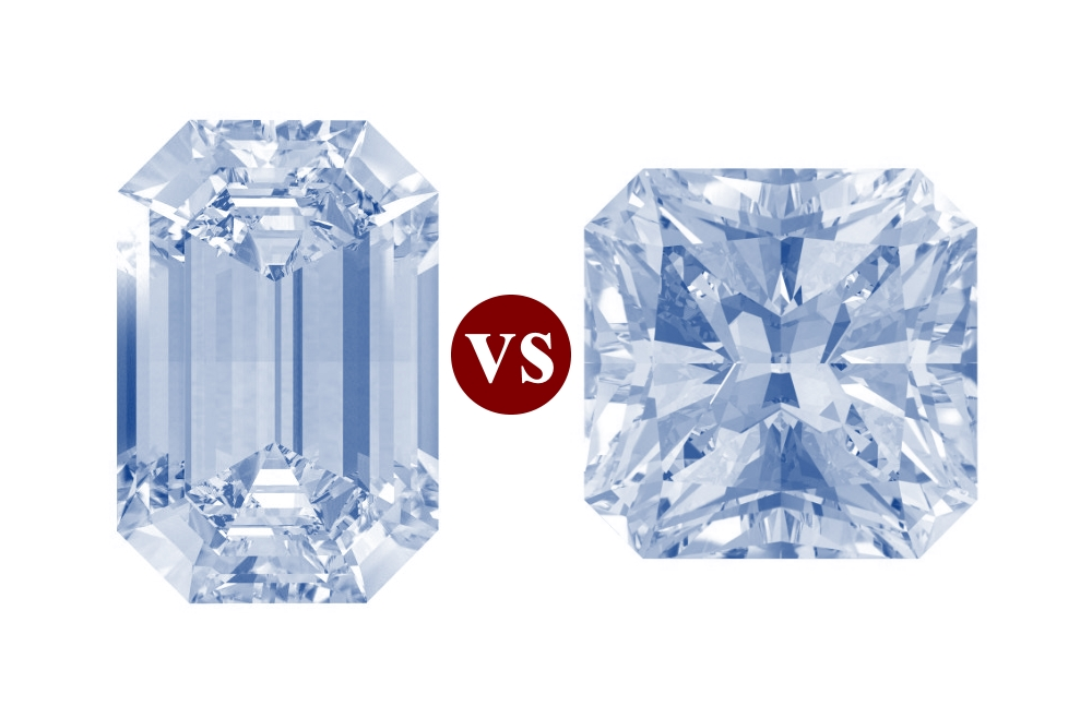2c33b13399623 Emerald-Cut vs. Radiant-Cut Diamonds: What Is the Difference?