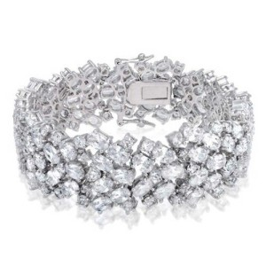 Bracelet With Diamond Imitations