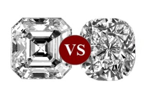 asscher-vs-cushion-cut-diamond-sparkle