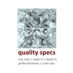 The Most Important Quality Specifications for Princess-Cut Diamonds