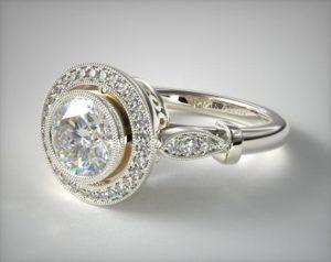 vintage setting diamond ring