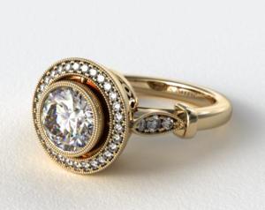 halo setting ring