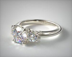diamond ring three-stone setting
